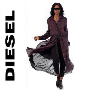 Diesel D-Baggy-Bordeaux Shirtdress